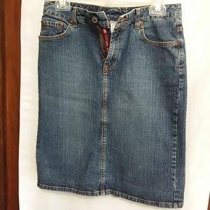 Lucky Brand stretch Jean skirt